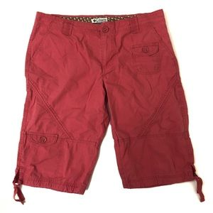 Columbia Cargo Knee Length Hiking Shorts Coral GUC